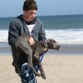 mikey being carried