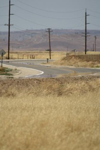 Drought - road in heat
