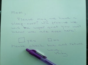 Vicky's letter