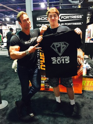 My youngest with Mike O'Hearn