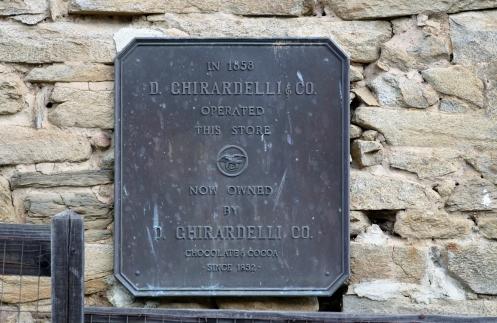 Ghirardelli plaque
