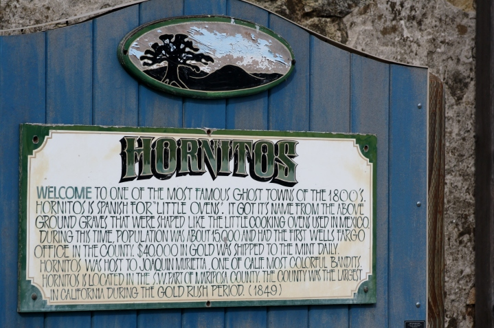 Town of Hornitos sign