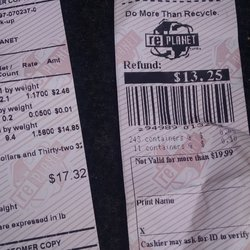 recycling receipts